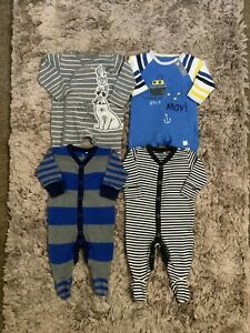 BABY BOYS NEWBORN, UP TO 1 MONTH BABYGROWS SLEEPSUITS BUNDLE COMBINED POST