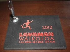 LAVAMAN 2012 TRIATHLON FINISHERS TILE PLAQUE PEN HOLDER WAIKOLOA HAWAII AWARD