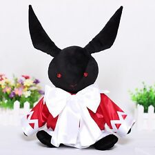 "14"" Pandora Heart Alice Cosplay B-Rabbit OZ Black Plush Stuffed Toy Doll Pillow"