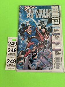 DC Comics Superman Our Worlds at War Secret Files #1 New In Plastic Cover 2001