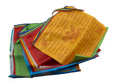 Ligne de 20 Drapeaux de prières en soie tibetain Lungta 26 x 24cm Tibet - 2429