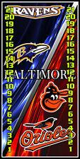 Ravens & Orioles Split 0195 Custom Cornhole Scoreboard w/ clips Made in the Usa