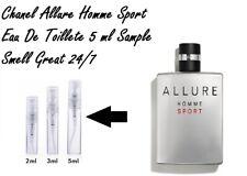 Chanel ALLURE HOMME SPORT -  5ml Sample Eau De Toilette Cologne