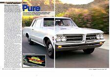 1964 PONTIAC GTO 389 TRI-POWER / MOBIL PURE OIL TRIALS - 5-PAGE ARTICLE / AD -