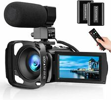 Video Camera Microphone HD 1080P 24MP Vlog 16 X Digital Zoom YouTube Camcorder