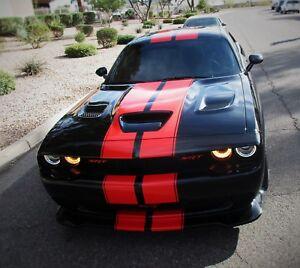 "Dodge CHALLENGER 10"" DUEL Racing Stripes Decals Vinyl 1/2"" Pinstriped 40 FEET"