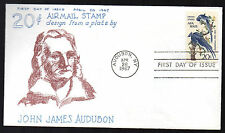 C71  --   Audubon airmail -- First Day cover, Virgil Crow cachet