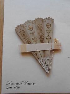 FÄCHER aus Papier mit Blumen um 1890 faltbar pop up fan Chromolithographien