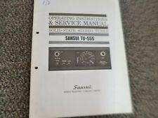 Original Service Manual Schaltplan Sansui TU-555