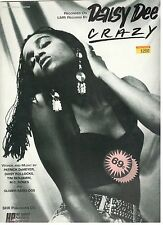 """DAISY DEE-CRAZY"" PIANO/VOCAL/GUITAR SHEET MUSIC-RARE-1991-BRAND NEW ON SALE!!"
