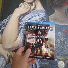 W/ Slipcover Captain America The First Avenger Blu-ray/DVD 2011 2-Disc Set