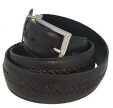 Men's Genuine Leather X-Laced Reversible Belt w/Polished Nickel-Polished Buckle!