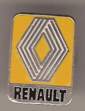 Renault pin/BROCHE: logo (1972 à 1992) - Jaune/Chrome couleurs - 1,7 x 1,2 CM