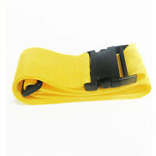 Yellow Travel Baggage Adjustable Suitcase Luggage Tie Down Belt Buckle Strap