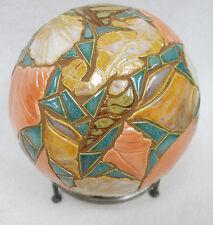 "SEA SHELL Mosaic Sculpture Accent Ball Tile Art Ceramic Gazing Sphere 5"""