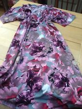 ASOS Pink Grey Floral Midi Dress UK 12  Frilly Boho