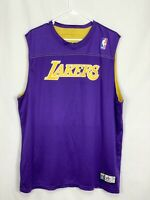 Lakers XL Alleson Athletic Basketball Jersey, Reversible Purple Gold
