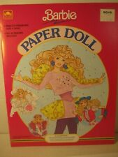 Vintage Barbie Bridal Paper Doll Book w/Fashions to Color, Golden 1990 Unused