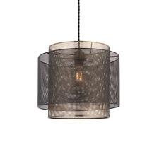 Endon Plexo Lámpara de Techo Colgante Estilo Malla Negro y Latón Antiguo 60W