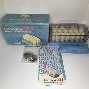 Vintage Blue Clairol Kindness 20 Instant Hairsetter 761 Hot Rollers Cord + Clips