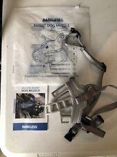 Barkless Basket Dog Muzzle Size 3- Adjustable, Comfortable, Durable. Never Used
