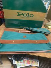 "Vintage New 1978 Ralph LAUREN ""The Polo Traveler"" And Grooming Kit Bag"