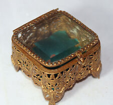 GoRgEoUs ANTIQUE~~c1840 PALAIS ROYAL French Jewelry Box with GILT SURROUND~~