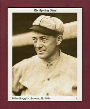 "#3 Miller Huggins, 1916 Browns The Sporting News 1981 Conlon Collection 4""x 5"""