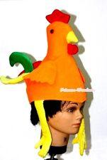 Xmas Gift Orange Chicken Chick Party Costume Child Warm Hat Headgear Mask Cap