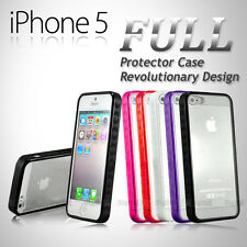 NEW FULL PROTECTOR Hard MATTE PC & Soft GEL Cases Cover For iPhone 5 5S