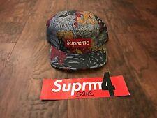 RARE SUPREME LEAVES CAMP CAP SLATE SS11 2011 HAT BOX LOGO RED