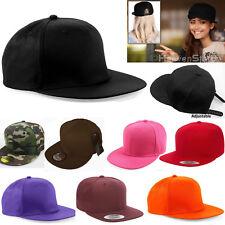Snapback Baseball Plain Cap Funky Hip Hop SP Retro Classic Vintage Flat Hat