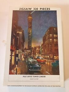 Post Office Tower, London. 320 Piece Vintage Jigsaw. Dunlop Co Acknowledged.