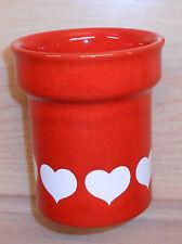 Wächtersbach Graziella rot weiß Herzen Becher Trinkbecher H9,7cm Ø8,5cm