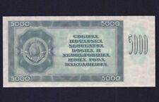 YUGOSLAVIA  5000 DINARA 1950  P-67Y  UNC  *** BACK PROOF ***NOT ISSUED  ***
