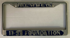 CHP 11-99 CALIFORNIA HIGHWAY PATROL FOUNDATION LICENSE PLATE FRAME **AUTHENTIC**