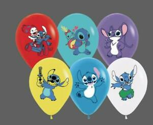 """10 X 12"""" LILO AND STITCH  Multi Colour Latex Printed Balloons Birthday Party,"""