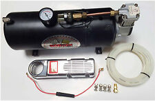 NEW 12V TRUCK AIR HORN AIR COMPRESSOR & 3.5 LITER TANK