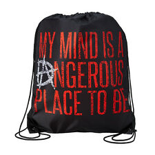 WWE DEAN AMBROSE MY MIND IS A DANGEROUS PLACE DRAWSTRING BAG NEW