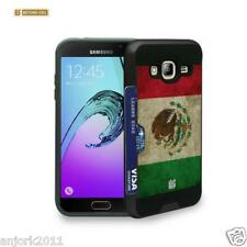 Mexican Flag Brushed Case w/ID Slot Cover for Samsung Galaxy Amp Prime J3 Sol
