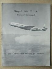 DEPLIANT PUB DE HAVILLAND COMET RAF TRANSPORT COMMAND RCAF BOAC BEA AIRLINE