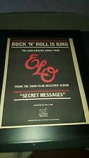 ELO Rock 'N' Roll Is King Rare Original Radio Promo Poster Ad Framed!