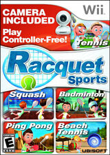 Racquet Sports with Camera WII New Nintendo Wii