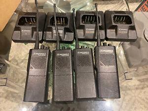 Set Of 4 Motorola GP300 Radio Walkie Talkies, NEW Batteries+ Lots Of Accessories