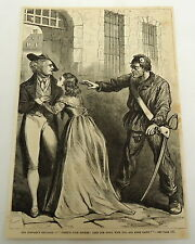1878 magazine engraving ~ MAN WITH SWORD reunites woman with her father