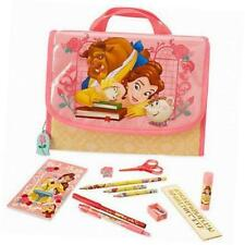 NEW Disney store Belle zip up Stationary kit Beauty and the Beast School
