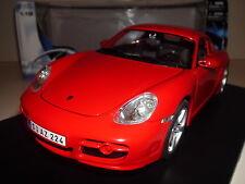 1:18 Porsche Cayman S Maisto Voiture Miniature Rouge Miniature Model 987 C Coupé Rosso Red