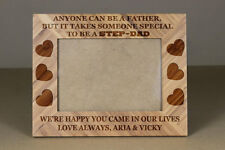 Step-Dad Father's day Gift,5x7 Wood Frame, Engraved wood Frame,Grandpa gift