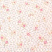 Vintage 1960s Mod Fabric Pink Floral Harlequin Polyester