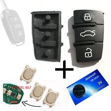 1 Funkschlüssel Tastenfeld Gummi für AUDI Schlüssel + 3 Smd Taster + 1 Batterie